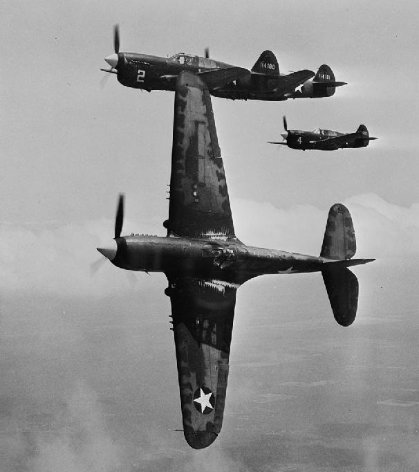 Curtiss P-40Fs near Moore AAF 1943